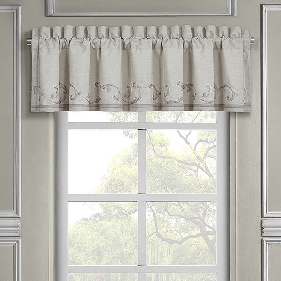 Queen Street Ania Rod-Pocket Tailored Valance