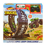 Hot Wheels Monster Trucks Epic Loop Challenge Play Set With Truck And Car