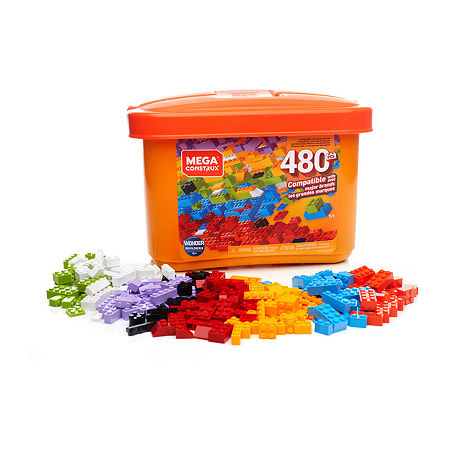 Mega Bloks Mega Construx Wonder Builders 480-Pc Building Tub, One Size , Mega 480 Bucket