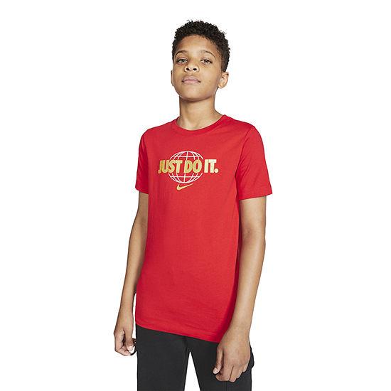 Nike Big Boys Crew Neck Short Sleeve Graphic T-Shirt
