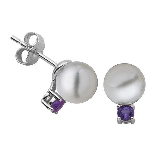 Silver Treasures Sterling Silver 10.7mm Round Stud Earrings