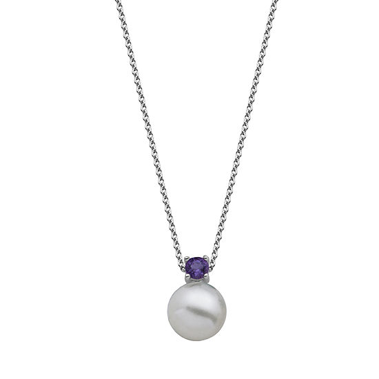 Silver Treasures Sterling Silver 18 Inch Cable Round Pendant Necklace