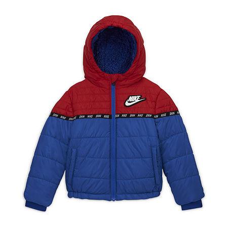 Nike Little Boys Heavyweight Puffer Jacket, 4t , Red