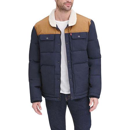 Levi's Heavyweight Puffer Jacket, Small , Blue