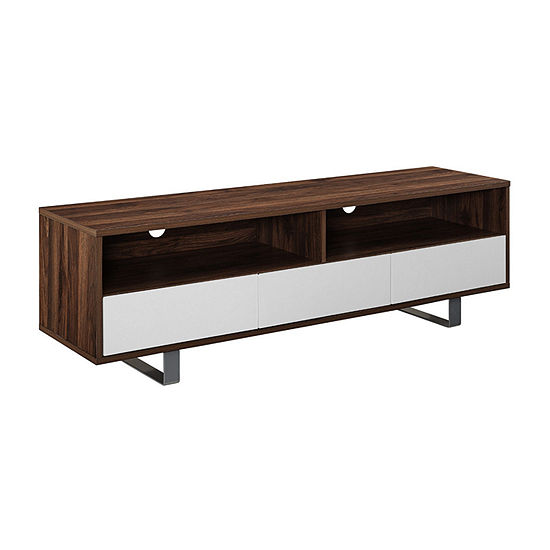 """60"""" Modern 3 Drawer Low Profile TV Console"""