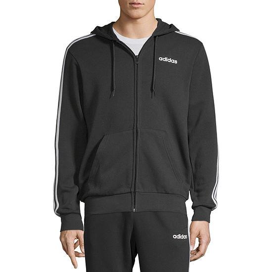 adidas Essential Full Zip Mens Long Sleeve Hoodie