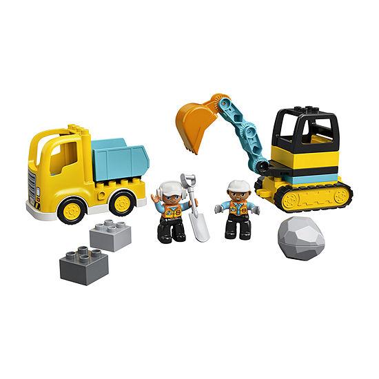 Lego Duplo Town Truck & Tracked Excavator