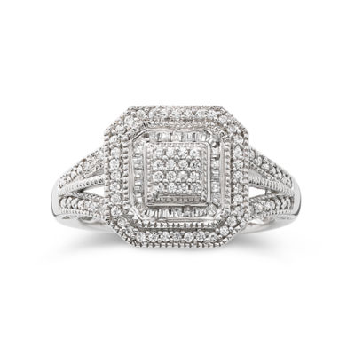 1/3 CT. T.W. Diamond Vintage Frame Ring
