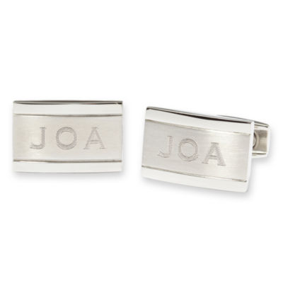Personalized Stainless Steel Cuff Links