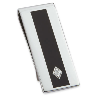 Enamel & Diamond Money Clip