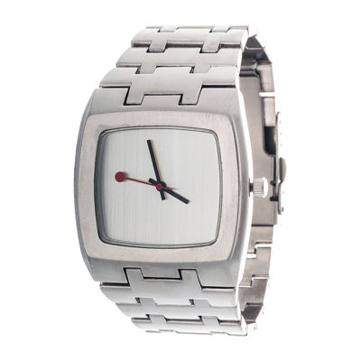 Zunammy® Mens Silver-Tone Strap Watch