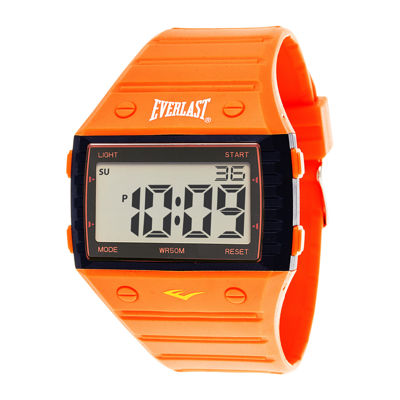 Everlast® Orange Silicone Strap Digital Sport Watch
