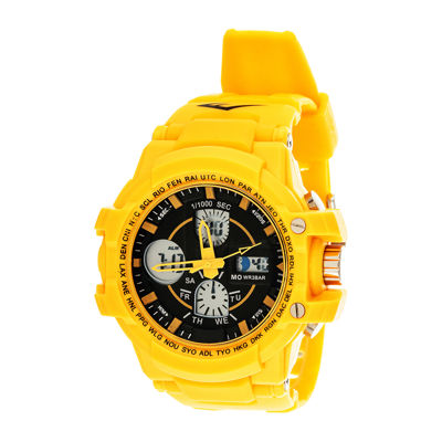 Everlast® Mens Yellow Strap Analog/Digital Sport Watch