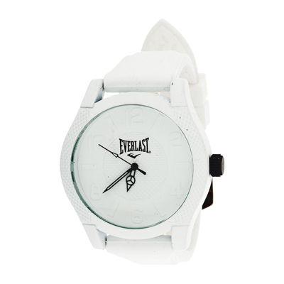Everlast® Mens White Silicone Strap Sport Watch