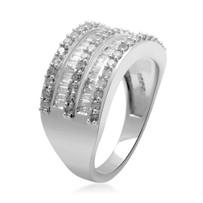 LIMITED QUANTITIES1 CT. T.W. Diamond 10K White Gold Ring