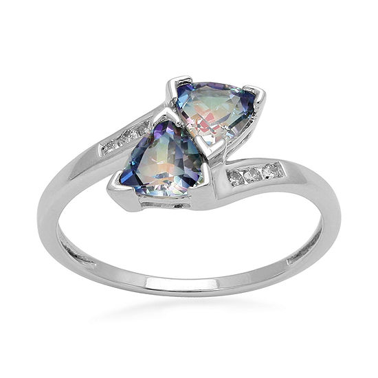 LIMITED QUANTITIES 1/2 CT. T.W. Diamond Sheer Luck Topaz Ring