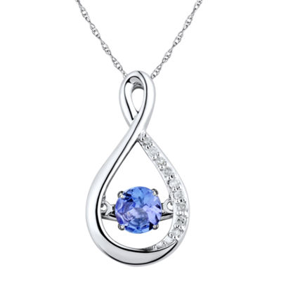 Love in Motion™ Diamond-Accent Purple Tanzanite Sterling Silver Pendant Necklace