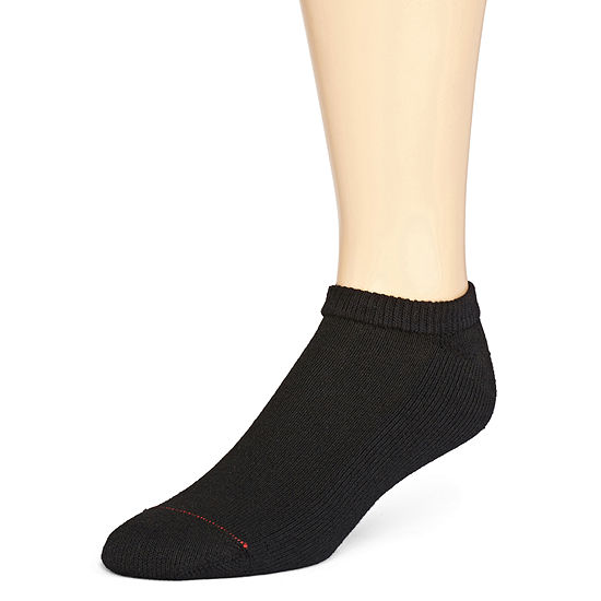 Hanes Mens 10 Pk Cushioned Foot No Show Socks