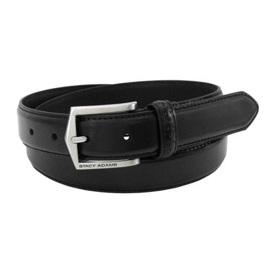 Stacy Adams® Casual Leather Belt with Pinhole Design – Big & Tall