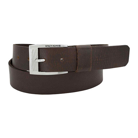 Stacy Adams® Buffalo Leather Belt with Wide Leather Keeper