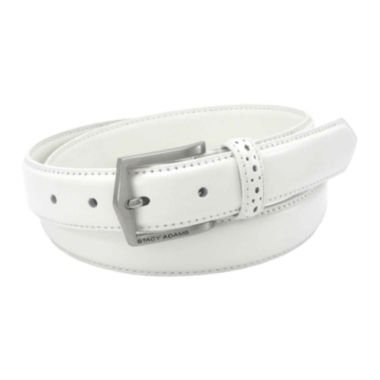 Stacy Adams® Casual Leather Belt with Pinhole Design