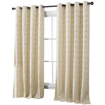 VCNY Trinity Jacquard Grommet-Top Curtain Panel