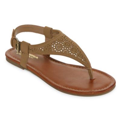Arizona Womens Sutton Adjustable Strap Flat Sandals