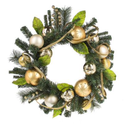 Midwest Cannon Falls Ball And Ornament Indoor Christmas Wreath