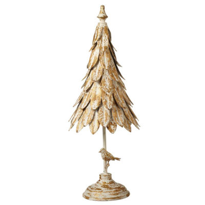 Midwest Cannon Falls Distressed Tree With Bird Tabletop Decor