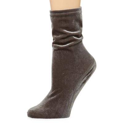 1 Pair Velvet Women's Quarter Socks