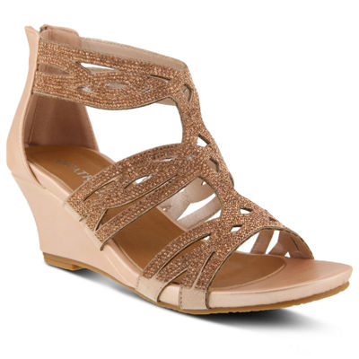 Patrizia Sparkling Womens Wedge Sandals