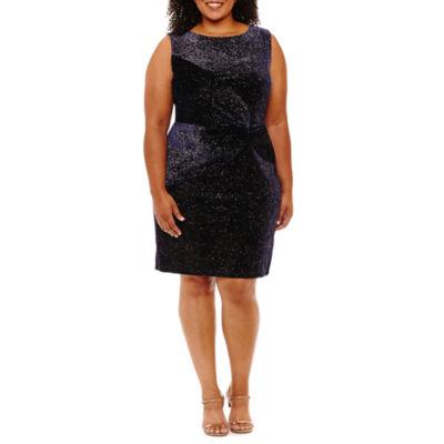 Scarlett Sleeveless Sheath Dress-Plus