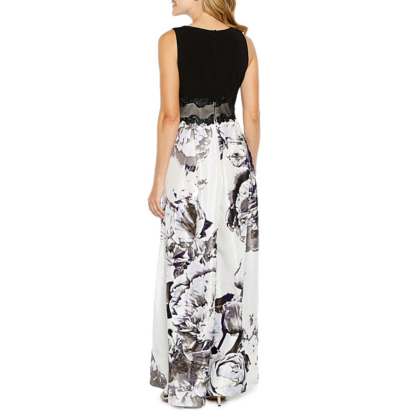 Melrose Sleeveless Cut Outs Evening Gown