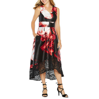 Melrose Sleeveless Floral Fit & Flare Dress