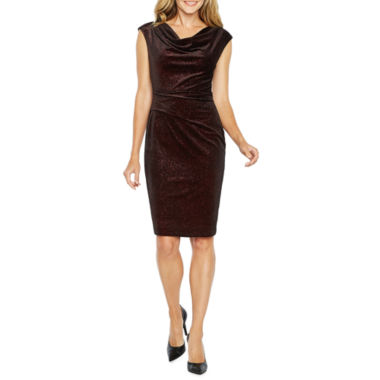 Jessica Howard Velvet Sleeveless Sheath Dress
