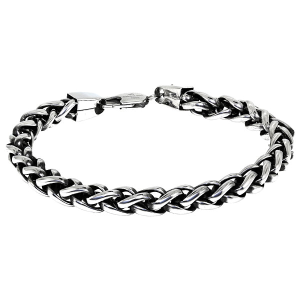 Mens 9 1/2 Inch Stainless Steel Chain Bracelet