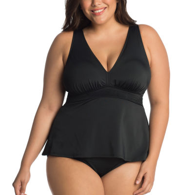 Trimshaper Tankini Swimsuit Top-Plus