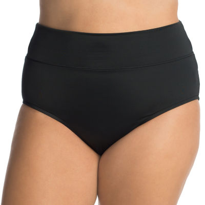 Trimshaper Control  High Waist Swimsuit Bottom-Plus