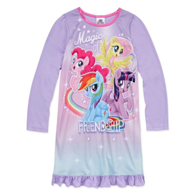 Long Sleeve My Little Pony Nightgown-Big Kid Girls