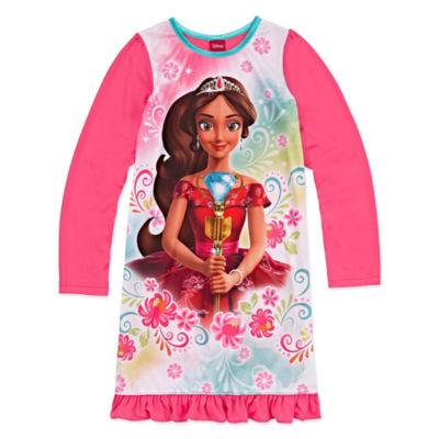 Disney Princess Long Sleeve Elena of Avalor Nightgown-Big Kid Girls