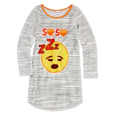 Emoji, Inc. Long Sleeve Nightgown-Big Kid Girls