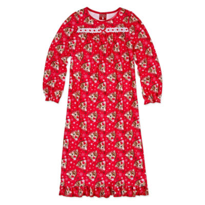 Rudolph The Red Nose Reindeer Long Sleeve Nightgown-Big Kid Girls