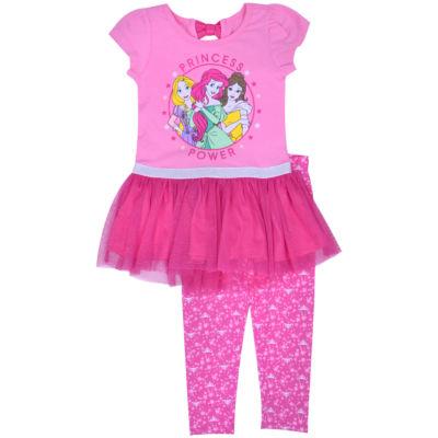 Disney Princess 2-pc. Pant Set Girls