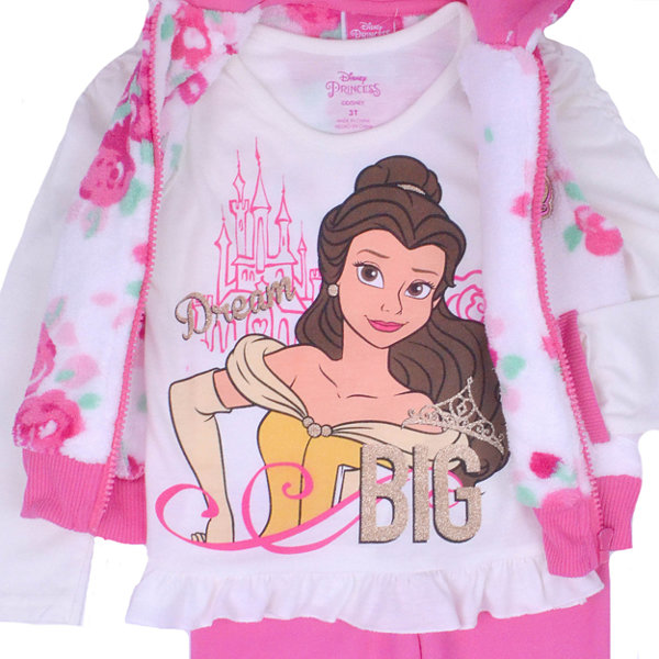 Disney Princess Beauty and the Beast 3-pc. Pant Set Girls