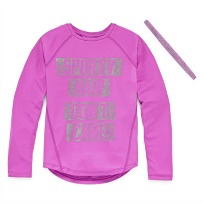 Xersion Performance Long Sleeve Top with Headband - Girls' 7-16 and Plus