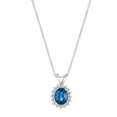 Grand Sample Sale™ by Le Vian® Blueberry Sapphires™ 14K Vanilla Gold® Pendant Necklace