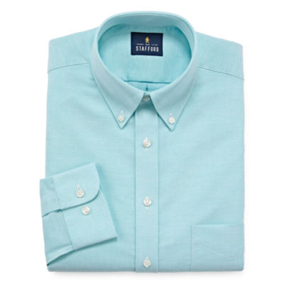 Stafford Travel Wrinkle-Free Stretch Oxford Long Sleeve Oxford Dress Shirt