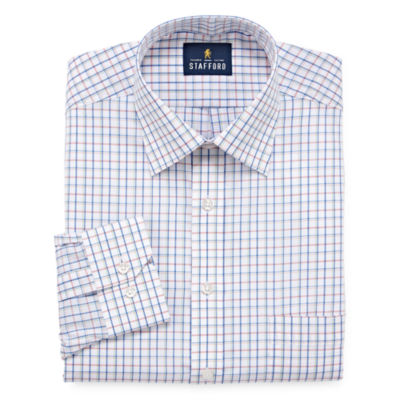 Stafford Travel Easy-Care Broadcloth Long Sleeve Broadcloth Dress Shirt