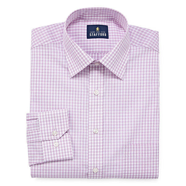 Stafford travel easy care broadcloth big and tall long for Stafford big and tall shirts