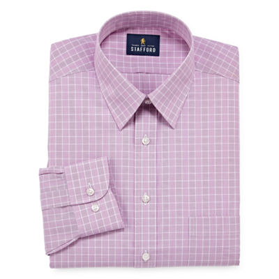 Stafford Travel Performance Super Shirt - Big And Tall Mens Point Collar Long Sleeve Wrinkle Free Dress Shirt
